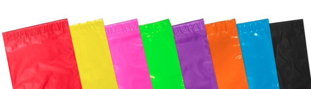 Mailbrights coloured mailing bags